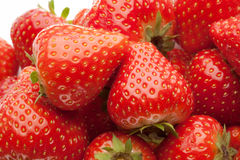 Heap of strawberrys on white Royalty Free Stock Photo