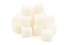 Heap of sugar cube Stock Images