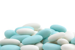 Heap of sugared almonds Stock Photography