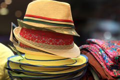 Heap of summer female hats Royalty Free Stock Photography