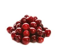 Heap of sweet cherries. Heap of sweet shiny cherries, isolated on white Royalty Free Stock Image