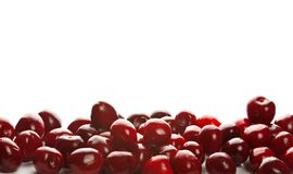 Heap of sweet cherries. Heap of sweet shiny cherries, isolated on white Stock Photography
