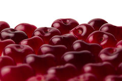 Heap of sweet cherries close-up. Cherry background. Fruit background. Isolated Stock Photo