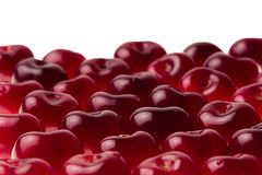 Heap of sweet cherries close-up. Cherry background. Fruit background. Isolated Royalty Free Stock Photo