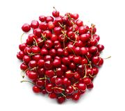 Heap of sweet cherries. On white background Stock Photography