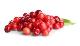 Heap of sweet cherries. On white background Stock Image