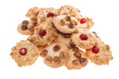 Heap of sweet Cookies on white Royalty Free Stock Image