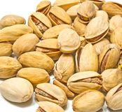 Heap of tasty roasted pistachios Royalty Free Stock Images