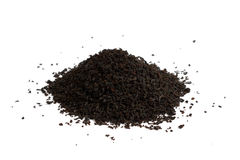 Heap of tea. Heap of black tea isolated on white background Royalty Free Stock Photo