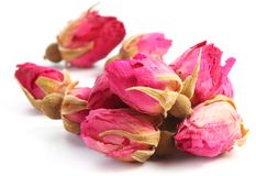 Heap of tea roses. Heap of tea roses isolated on a white background Stock Image