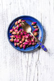 Heap of tea roses Stock Images