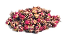 Heap of tea roses isolated on a white background. Stock Photo
