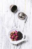 Heap of tea roses Stock Photo
