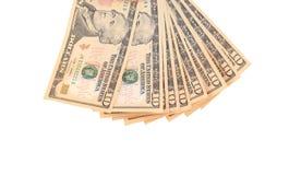 Heap of ten dollar bills. Royalty Free Stock Image