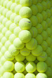 Heap of tennis balls aligned - background texture, pattern Royalty Free Stock Photo