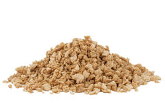 Heap of textured soy protein granules Royalty Free Stock Photography