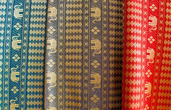 Thai Silk Fabrics Stock Image