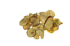 Heap of thinly sliced apple pieces Stock Photo