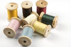 Heap of thread spools Royalty Free Stock Photography