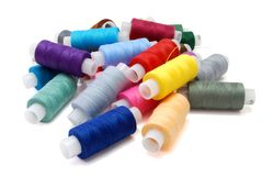 Heap of Threads. Heap of Colored Threads Isolated on White Stock Photos