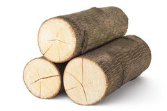 Heap of three logs Stock Photos