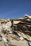 Heap Of Thrown Cardboard Boxes Royalty Free Stock Images