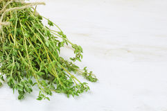 Heap of thyme Stock Photo