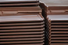 Heap of tile. In the construction site Stock Images