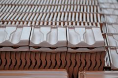 Heap of tile. In the construction site Stock Image