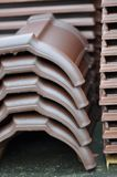 Heap of tile. In the construction site Royalty Free Stock Images
