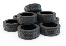 Heap tires Stock Photos