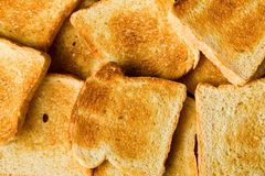 Heap of toasted bread Royalty Free Stock Photo