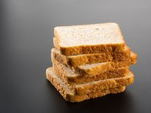 Heap of toasted bread slices Stock Photo