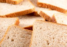 Heap of toasted bread slices Stock Photography