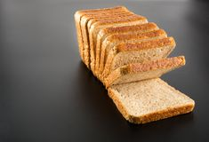 Heap of toasted bread slices Royalty Free Stock Photo