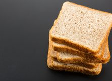 Heap of toasted bread slices Stock Images