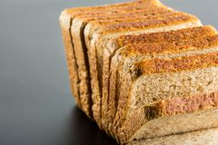 Heap of toasted bread slices Royalty Free Stock Photos