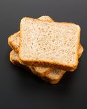Heap of toasted bread slices Stock Photos