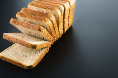 Heap of toasted bread slices Stock Image