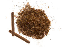 Heap of tobacco and cigars. Royalty Free Stock Images