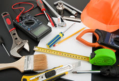 Heap of tools Royalty Free Stock Image