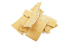 Heap of torned cardboard. Royalty Free Stock Photo