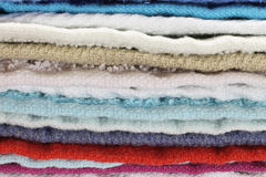 Heap of towels close-up Royalty Free Stock Photos