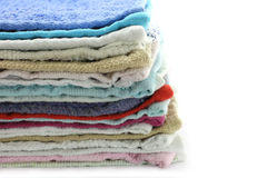 Heap of towels close-up Royalty Free Stock Photography