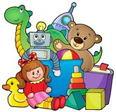 Heap of toys. Eps10 vector illustration Stock Image