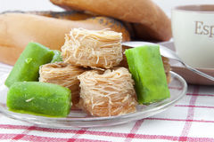 Heap of Turkish sweets Royalty Free Stock Images
