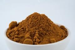 Heap of turmeric,Turmeric & x28;Curcuma& x29; powder  on white bac Stock Photography