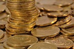 Heap of Ukrainian coins Stock Photo
