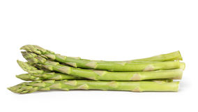 Heap of uncooked green asparagus Royalty Free Stock Photo