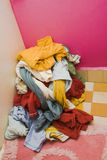 Heap of unwashed linen Stock Photo